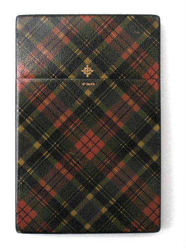 Mc Beth tartan card case